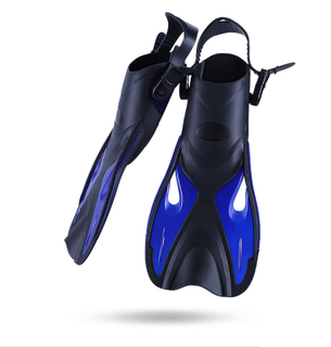 DIVING Swim Fins Adult Short Scuba Snorkeling Shoes Swimming Fins Trek Foot Flipper Diving Flippers Diving Fins with Heel