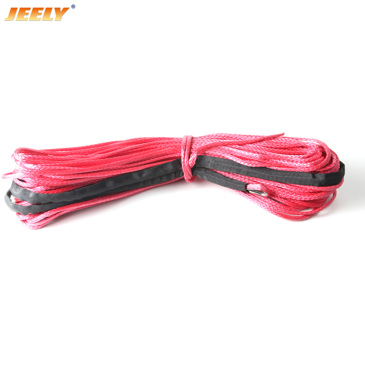 14mm*15m Synthetic UHMWPE 4WD Towing Winch Rope with Thimble
