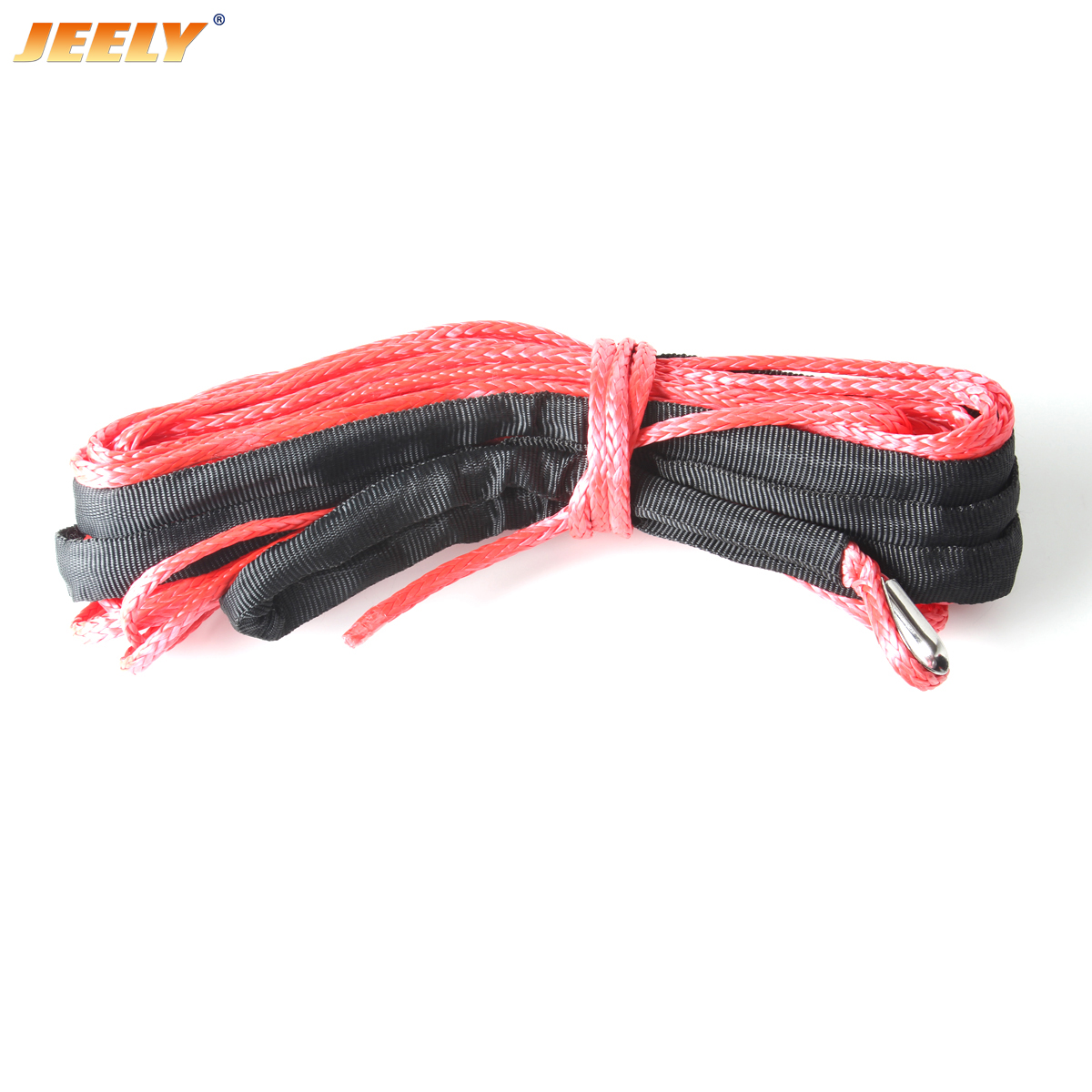 10mm*40m UHMWPE Winch Rope with Thimble Synthetic Cord for Off-road ATV/UTV/SUV/4X4/4WD