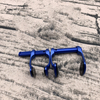 High aviation aluminum Free Diving Nose Clip Comfortable Diving Surfing Swim Nose Clips Non-slip silicone pad at both