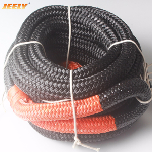 Nylon kinetic recovery towing rope