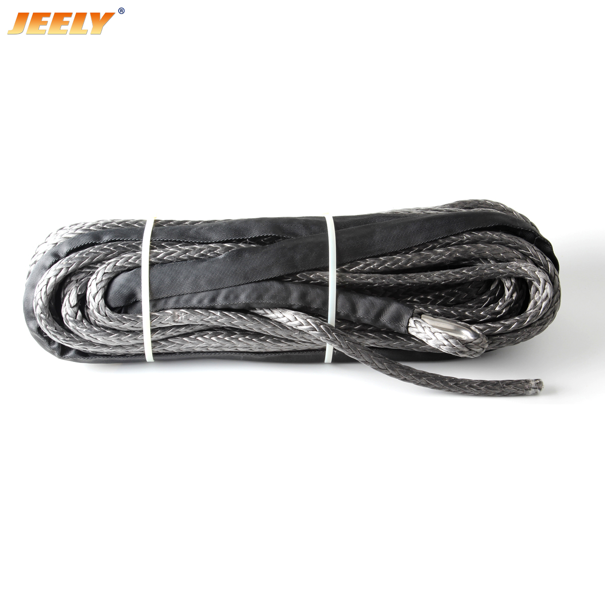 30m*8mm UHMWPE Synthetic Winch Rope with thimble Vehicle Tug Winch Line