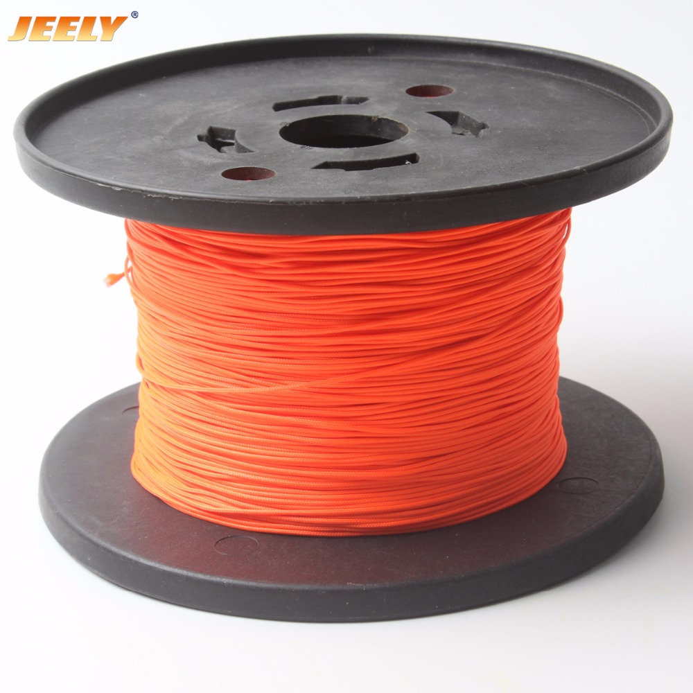 JEELY 1.6mm 250LB UHMWPE Towing Rope Round Stiff Version with Polyester Sleeve