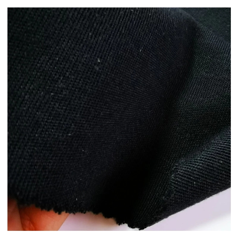 Black Aramid 1414 Double Sides Fire Resistant Knitted Fabric for Military Police Fire Fighting Glove