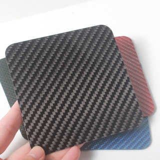 Colorful Carbon Fiber Sheet with Corner
