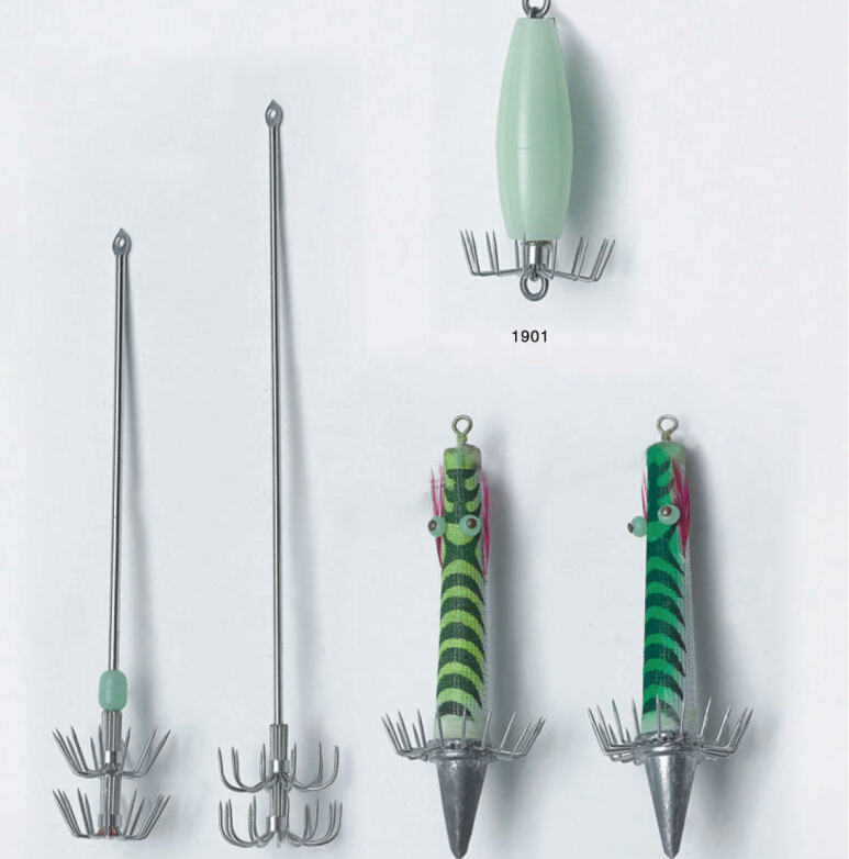 Multi-shaped Squid Octopus Jig Hooks for Spearfishing